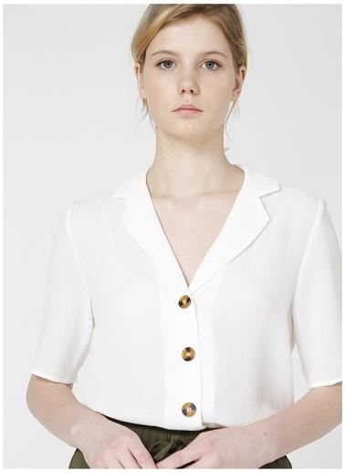 Only Only Ekru Gömlek Beyaz